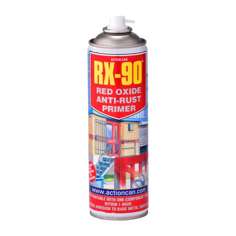 rx 90 red oxide anti rust primer spray action can. Black Bedroom Furniture Sets. Home Design Ideas