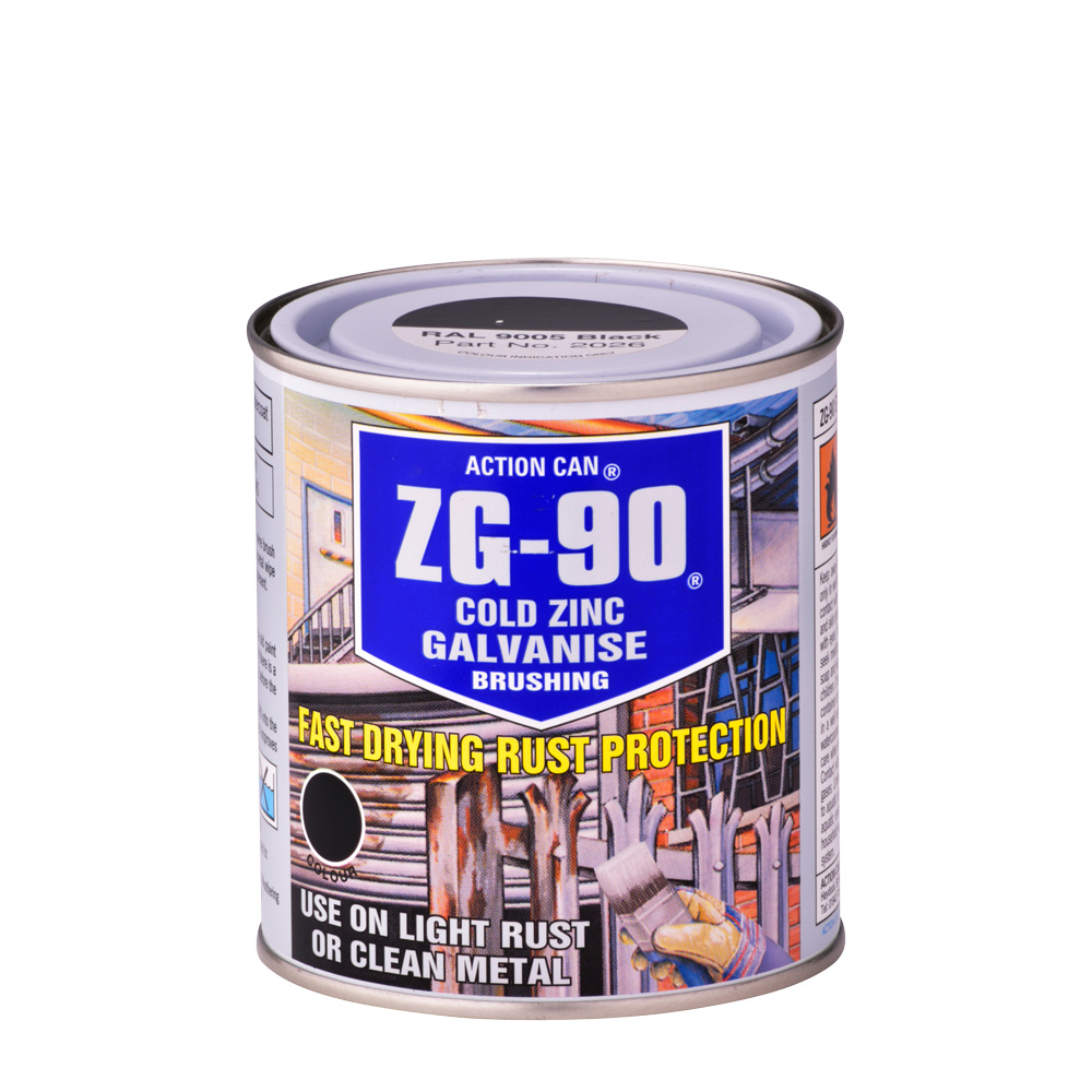 zg 90 brushing cold zinc galvanise spray paint action can. Black Bedroom Furniture Sets. Home Design Ideas